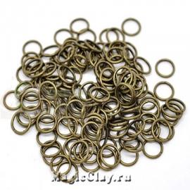 Колечки разъемные, цвет античная бронза 10х1,2мм, 1уп (~50шт)