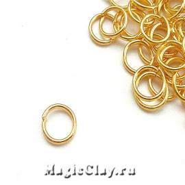 Колечки разъемные, цвет золото 8х1мм, 1уп (~200шт)