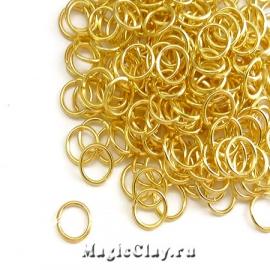 Колечки разъемные, цвет золото 6х0,7мм, 1уп (~200шт)
