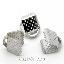 Зажимы для лент 6х8мм, цвет серебро стальное, 30шт