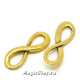 Коннектор Бесконечность 23х8мм, цвет золото, 1шт