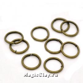 Колечки разъемные, цвет античная бронза 9х1мм, 1уп (~200шт)