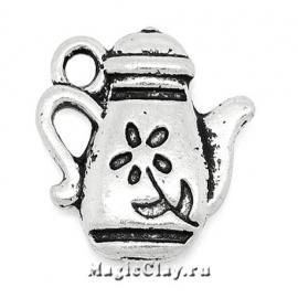 Подвеска Бабушкин Чай 13х13мм, цвет серебро, 1шт
