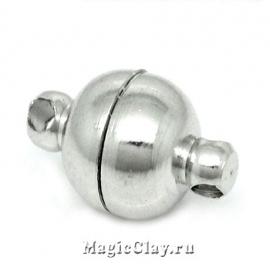 Замок Магнитный 11х6мм, цвет серебро стальное, 1шт