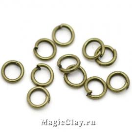 Колечки разъемные, цвет античная бронза 5х0,9мм, 1уп (~200шт)