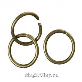 Колечки разъемные, цвет античная бронза 8х0,8мм, 1уп (~200шт)
