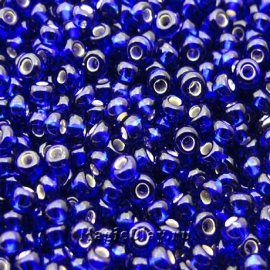Бисер чешский 10/0 Прозрачный, 37100 Cobalt Blue, 41гр