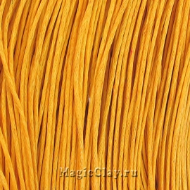Шнур вощеный 1мм Желтый, 1 связка (~80метров)