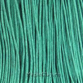 Шнур вощеный 1мм Зелёный Морской, 1 связка (~80метров)