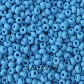 Бисер чешский 10/0 Непрозрачный, 63050matt Blue, 41гр