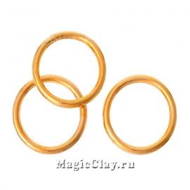Колечки разъемные, цвет золото 14х1,2мм, 1уп (~50шт)