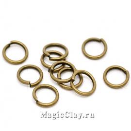Колечки разъемные, цвет античная бронза 6х0,9мм, 1уп (~200шт)