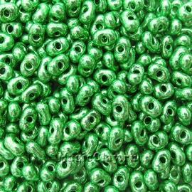 Бисер чешский Farfalle 6.5х3.2 Кристалл, 18356 Green