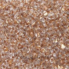 Бисер чешский Farfalle 4х2 Кристалл, 68105 Copper