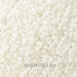 Бисер чешский Farfalle 4х2 Граненый Пастельные тона, 46102 Chalk White