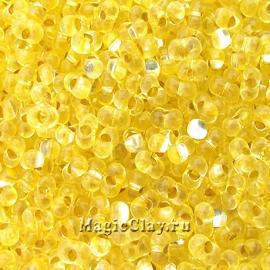 Бисер чешский Farfalle 4х2 Прозрачный, 01181 Light Yellow