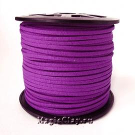 Шнур замшевый 3мм Фиолетовый, 5 метров