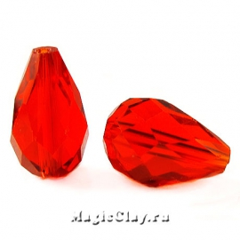Бусины Капля Красный Закат 15х10мм, 10шт