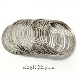 Проволока Мемори для браслетов 65х0,8мм, серебро, 10 витков