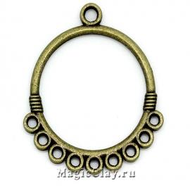 Коннектор Вдохновение 33х29мм, цвет античная бронза, 1шт