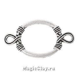 Коннектор Виток 47х23мм, цвет серебро, 1шт