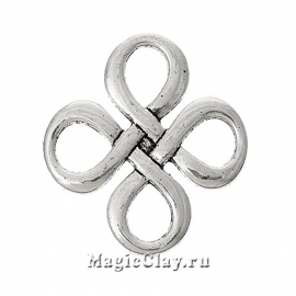 Коннектор Узел 28х28мм, цвет серебро, 1шт