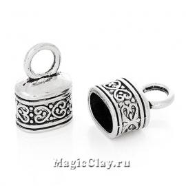 Концевик Рандеву 18х13мм, цвет серебро, 1шт