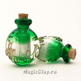 Бутылочка муранское стекло, Весенняя Листва