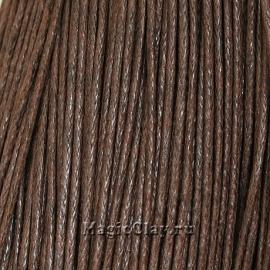 Шнур вощеный 1мм Коричневый Тёмный, 1 связка (~80метров)