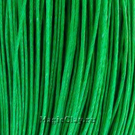 Шнур вощеный 1мм Зелёный Хвойный, 1 связка (~80метров)