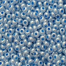 Бисер чешский 10/0 Алебастр, 37136 Pearl Blue, 41гр