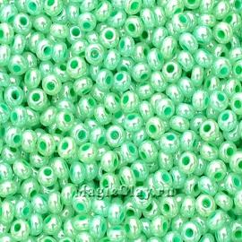 Бисер чешский 10/0 Алебастр, 37356 Pearl Light Green, 41гр