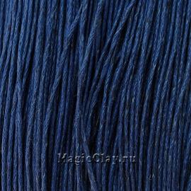 Шнур вощеный 1мм Синий Тёмный, 1 связка (~80метров)