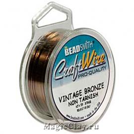 Проволока Craft Wire BeadSmith 1мм, цвет бронза