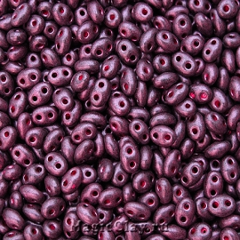 Бисер чешский Twin Джет, 28998 Dark Purple