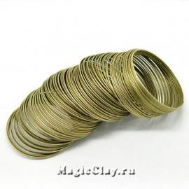 Проволока Мемори для браслетов 60х1 мм, бронза, 10 витков