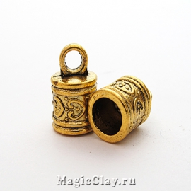 Концевик Исида 16х10мм, цвет золото, 2шт
