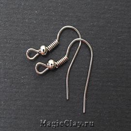 Швензы крючки с пружинкой, цвет стальной, 40 шт