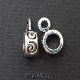 Бейл Спираль 12х8мм, цвет серебро, 1шт