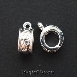 Бейл Весенний 13х9мм, цвет серебро, 1шт