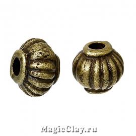 Бусина Воланы 5х4мм, цвет бронза, 20шт