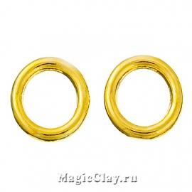 Колечки спаянные, цвет золото 8х2мм, 1уп (~30шт)