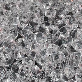 Бисер чешский Twin Прозрачный, 00050 Crystal