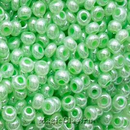 Бисер чешский 10/0 Алебастр, 37154 Pearl Medium Green, 41гр