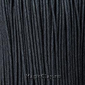 Шнур вощеный 2мм Черный, 1 связка (~70метров)