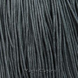 Шнур вощеный 2мм Серый, 1 связка (~80метров)