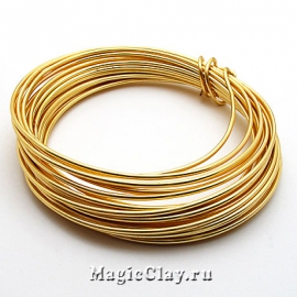 Проволока Craft Wire BeadSmith 1,25мм, цвет золото