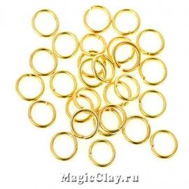 Колечки разъемные, цвет золото 7х1мм, 1уп (~200шт)