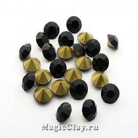 Стразы конусные для бижутерии SS22, цвет Черный