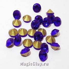 Стразы конусные для бижутерии SS22, цвет Сапфир